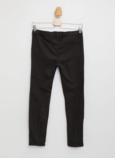 DeFacto Slim Fit Dokuma Pantolon Siyah